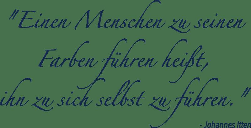 Zitat zu Farben von Johannes Itten